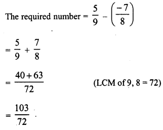 RD Sharma Class 8 Solutions Chapter 1 Rational NumbersEx 1.3 15
