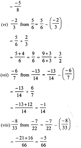RD Sharma Class 8 Solutions Chapter 1 Rational NumbersEx 1.3 5