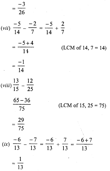RD Sharma Class 8 Solutions Chapter 1 Rational NumbersEx 1.3 9