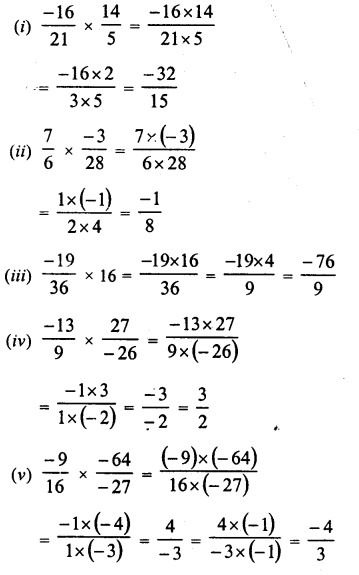 RD Sharma Class 8 Solutions Chapter 1 Rational NumbersEx 1.5 10
