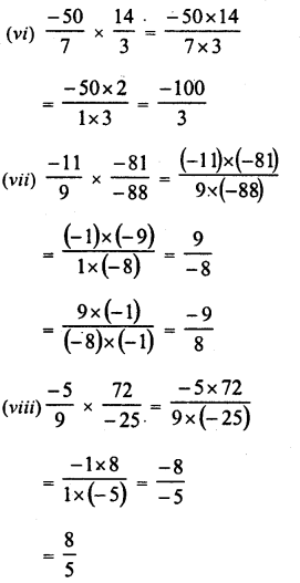 RD Sharma Class 8 Solutions Chapter 1 Rational NumbersEx 1.5 11