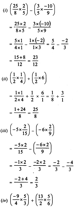 RD Sharma Class 8 Solutions Chapter 1 Rational NumbersEx 1.5 14