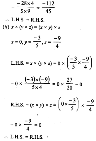 RD Sharma Class 8 Solutions Chapter 1 Rational NumbersEx 1.6 7