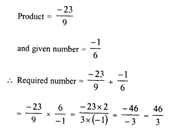 RD Sharma Class 8 Solutions Chapter 1 Rational NumbersEx 1.7 10