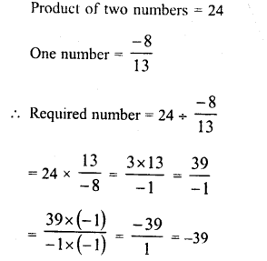 RD Sharma Class 8 Solutions Chapter 1 Rational NumbersEx 1.7 12