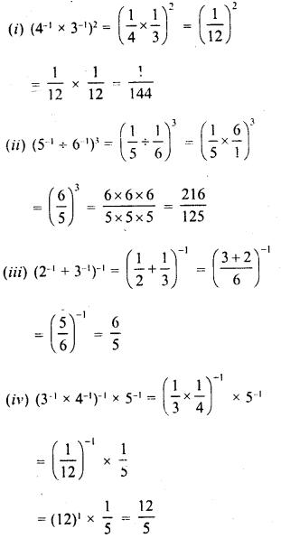 RD Sharma Class 8 Solutions Chapter 2 PowersEx 2.1 10