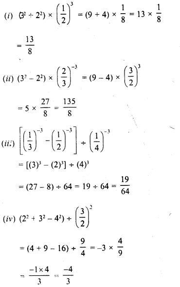 RD Sharma Class 8 Solutions Chapter 2 PowersEx 2.1 13