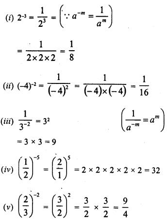 RD Sharma Class 8 Solutions Chapter 2 PowersEx 2.1 2