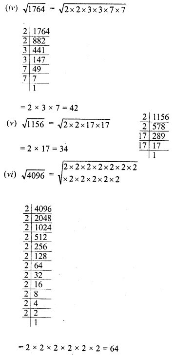 RD Sharma Class 8 Solutions Chapter 3 Squares and Square Roots Ex 3.4 2