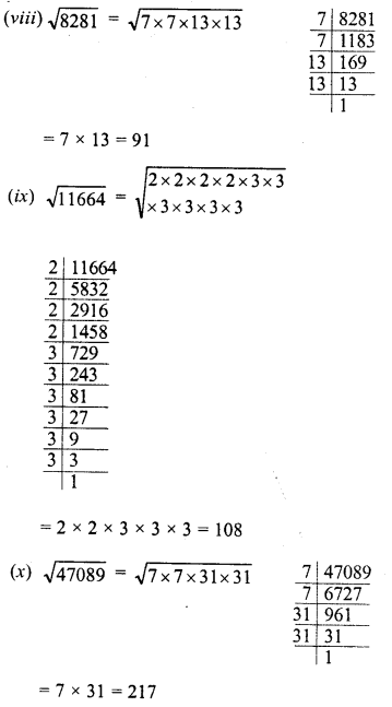 RD Sharma Class 8 Solutions Chapter 3 Squares and Square Roots Ex 3.4 4