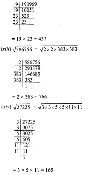 RD Sharma Class 8 Solutions Chapter 3 Squares and Square Roots Ex 3.4 6