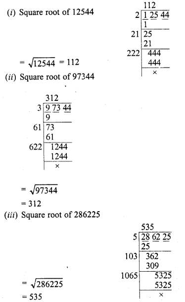 RD Sharma Class 8 Solutions Chapter 3 Squares and Square Roots Ex 3.5 1