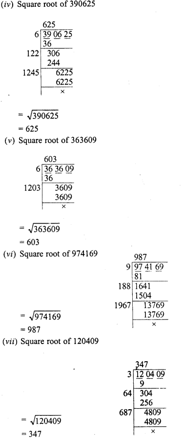 RD Sharma Class 8 Solutions Chapter 3 Squares and Square Roots Ex 3.5 2