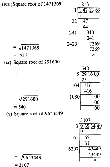 RD Sharma Class 8 Solutions Chapter 3 Squares and Square Roots Ex 3.5 3