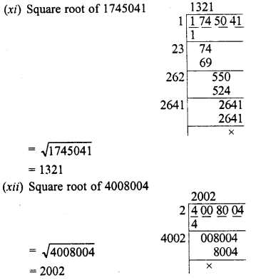 RD Sharma Class 8 Solutions Chapter 3 Squares and Square Roots Ex 3.5 4