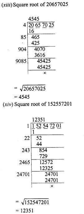 RD Sharma Class 8 Solutions Chapter 3 Squares and Square Roots Ex 3.5 5