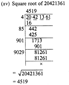 RD Sharma Class 8 Solutions Chapter 3 Squares and Square Roots Ex 3.5 6