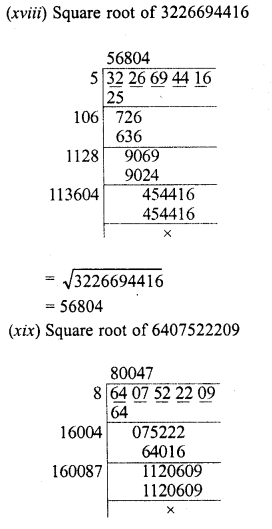 RD Sharma Class 8 Solutions Chapter 3 Squares and Square Roots Ex 3.5 8
