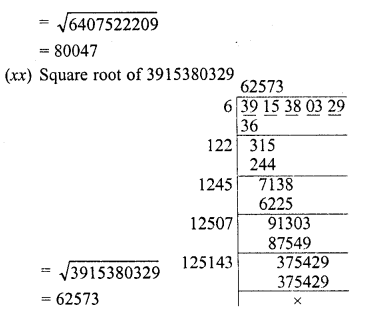 RD Sharma Class 8 Solutions Chapter 3 Squares and Square Roots Ex 3.5 9