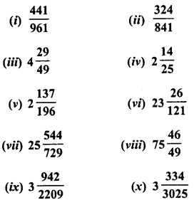 RD Sharma Class 8 Solutions Chapter 3 Squares and Square Roots Ex 3.6 1