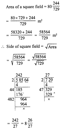 RD Sharma Class 8 Solutions Chapter 3 Squares and Square Roots Ex 3.6 16