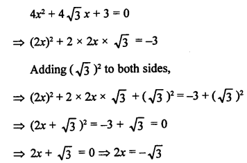 RS Aggarwal Class 10 Solutions Chapter 10Quadratic Equations Ex 10B 4