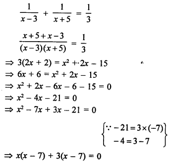 RS Aggarwal Class 10 Solutions Chapter 10Quadratic Equations Ex 10E 18