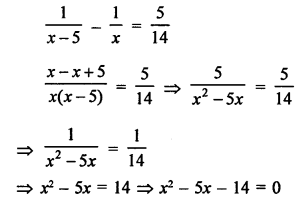 RS Aggarwal Class 10 Solutions Chapter 10Quadratic Equations Ex 10E 4