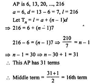 RS Aggarwal Class 10 Solutions Chapter 11Arithmetic Progressions Ex 11A 10