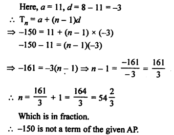 RS Aggarwal Class 10 Solutions Chapter 11Arithmetic Progressions Ex 11A 13