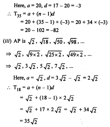 RS Aggarwal Class 10 Solutions Chapter 11Arithmetic Progressions Ex 11A 4