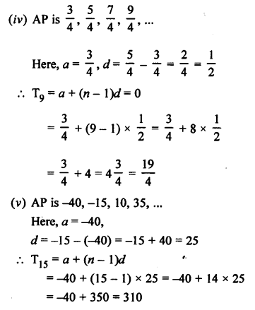 RS Aggarwal Class 10 Solutions Chapter 11Arithmetic Progressions Ex 11A 5