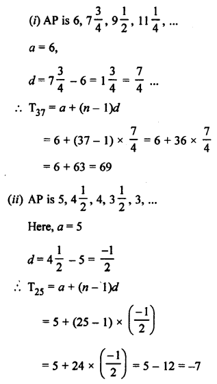 RS Aggarwal Class 10 Solutions Chapter 11Arithmetic Progressions Ex 11A 6