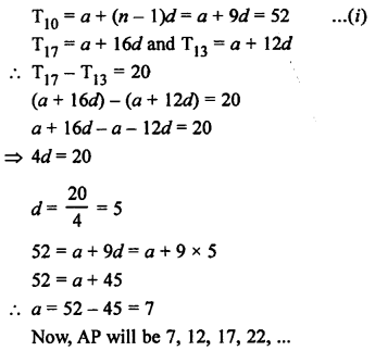RS Aggarwal Class 10 Solutions Chapter 11Arithmetic Progressions Ex 11A 9