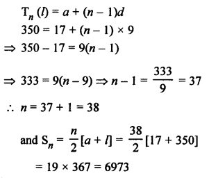 RS Aggarwal Class 10 Solutions Chapter 11Arithmetic Progressions Ex 11C 38
