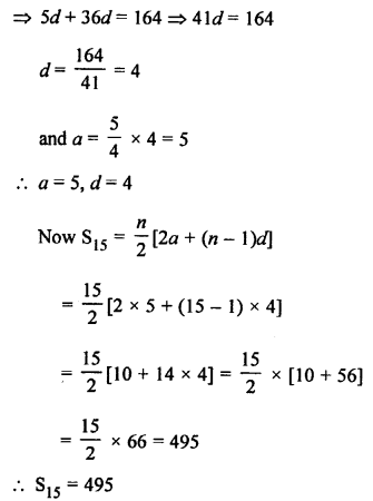 RS Aggarwal Class 10 Solutions Chapter 11Arithmetic Progressions Ex 11C 54