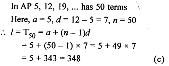 RS Aggarwal Class 10 Solutions Chapter 11Arithmetic Progressions MCQS 15