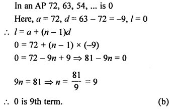 RS Aggarwal Class 10 Solutions Chapter 11Arithmetic Progressions MCQS 22