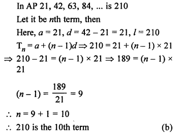 RS Aggarwal Class 10 Solutions Chapter 11Arithmetic Progressions MCQS 25