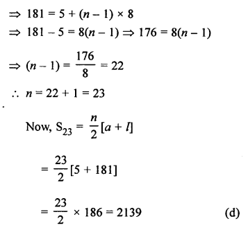 RS Aggarwal Class 10 Solutions Chapter 11Arithmetic Progressions MCQS 28