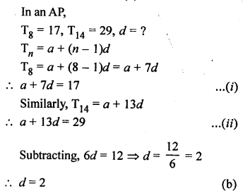 RS Aggarwal Class 10 Solutions Chapter 11Arithmetic Progressions MCQS 34