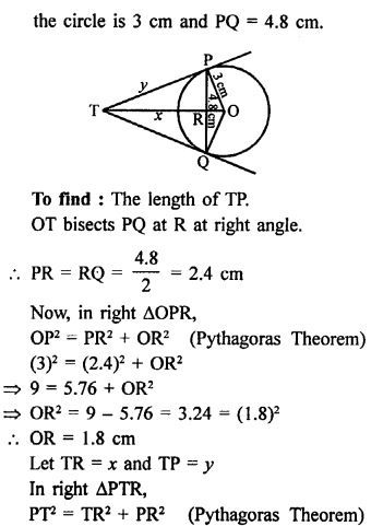 RS Aggarwal Class 10 Solutions Chapter 12Circles Ex 12A 13