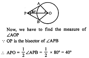 RS Aggarwal Class 10 Solutions Chapter 12Circles MCQS 18
