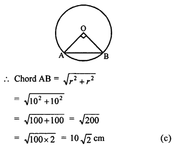 RS Aggarwal Class 10 Solutions Chapter 12Circles MCQS 2