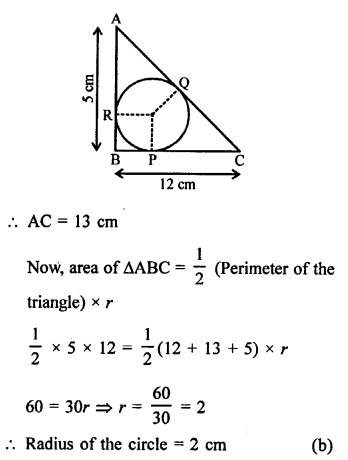 RS Aggarwal Class 10 Solutions Chapter 12Circles MCQS 31