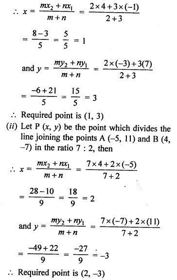 RS Aggarwal Class 10 Solutions Chapter 16Co-ordinate Geometry Ex 16B 1