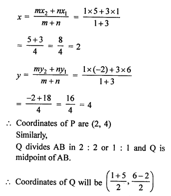 RS Aggarwal Class 10 Solutions Chapter 16Co-ordinate Geometry Ex 16B 10