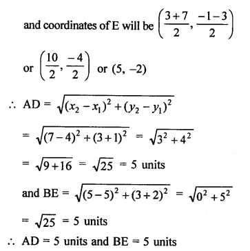 RS Aggarwal Class 10 Solutions Chapter 16Co-ordinate Geometry Ex 16D 10
