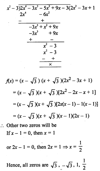 RS Aggarwal Class 10 Solutions Chapter 2 Polynomials Ex 2B 18