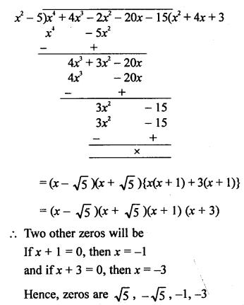 RS Aggarwal Class 10 Solutions Chapter 2 Polynomials Ex 2B 20